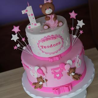 Sweet teddy cake