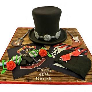 Guns 'n' Roses/U2 cake