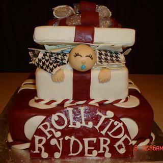 Alabama Baby in a Giftbox babyshower cake - Cake by Dana