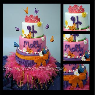 Fancy Nancy (TM) inspired cake