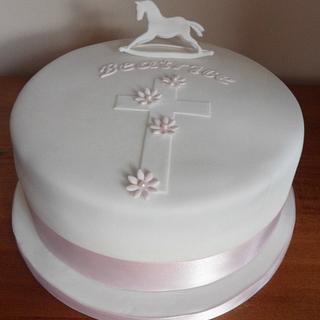 Girls Christening Cake