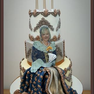 A Tudor Style 60th Cake - Cake by Mother and Me Creative Cakes