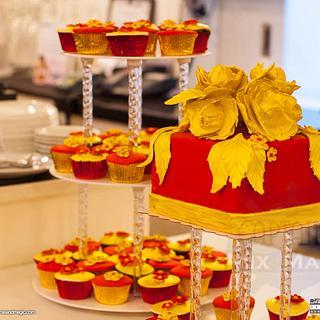Red Red Gold Birthday