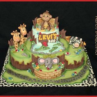 Zoo cake - Cake by Karen Dodenbier