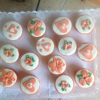 Orange cup cakes.