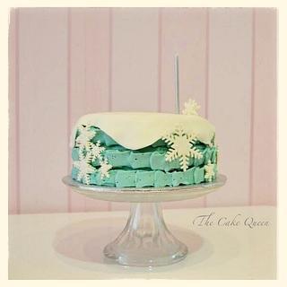 Frozen buttercream cake