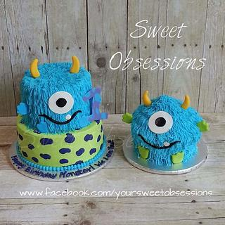 Monster Cake and Smash Cake - Cake by Sweet Obsessions Cake Co