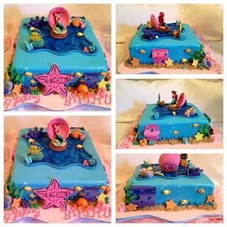 Under the sea!! Little Mermaid Birthday cake
