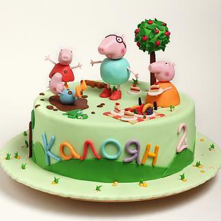 Peppa Pig cake - Cake by Lili Brankova