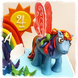 Rainbow Dash Cake... My Little Pony - Cake by HighTeaTighty
