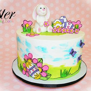 Little Bunny - Easter Coloring Book Cake Collaboration