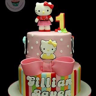 Hello Kitty Candy Stripes Cake