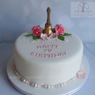 70th Birthday cake - Cake by Natalie Wells