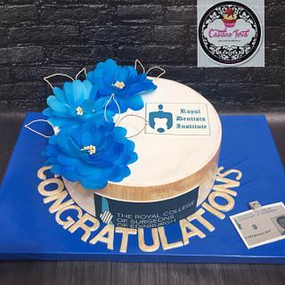 Certificate cake ceremony