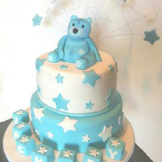 Christening Teddy - Cake by Vicky