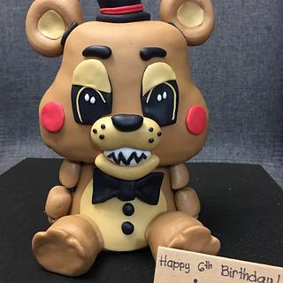 Freddy Fazbear of Five Nights at Freddy's - Cake by Kara's Custom Design Cakes
