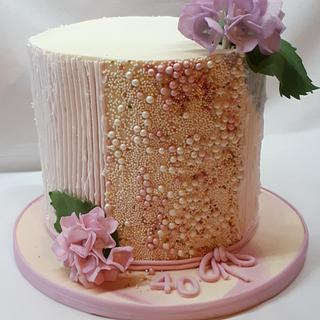 birthday in powder-pink and vanilla