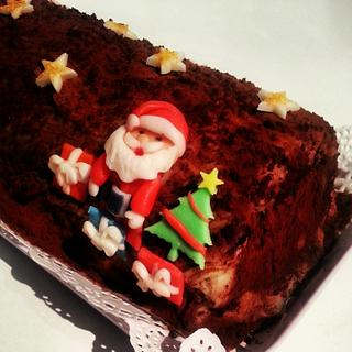 Christmas yule log