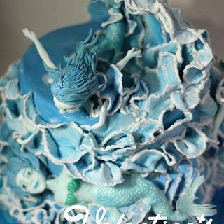 """Mermaid Cake - Silver in """"Die Tortenshow"""" 2013 in Germany"""