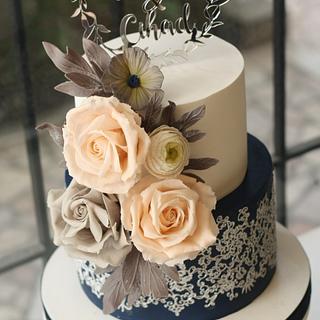 Navy Wedding Cake - Cake by Sihirli Pastane