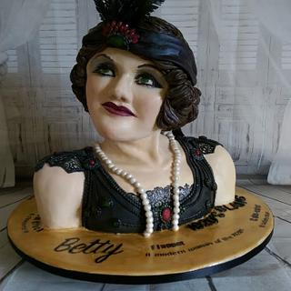 Betty the 1920s Flapper - Cake by MySugarFairyCakes