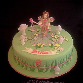 Garden Fairy With Wafer Paper Wings - Cake by Fantail Cakes