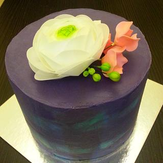 Simple purple cake for Alex