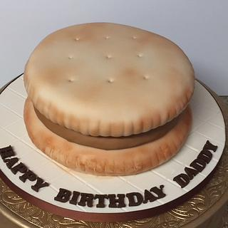 Peanut butter cracker sandwich cake