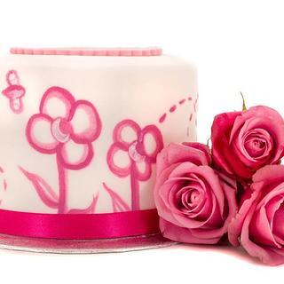 Handpainted Cake for Cake shoot