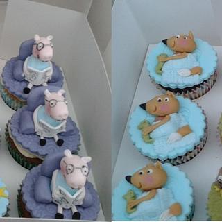 3D Pepp Pig and friends cupcakes - Cake by Karen's Kakery