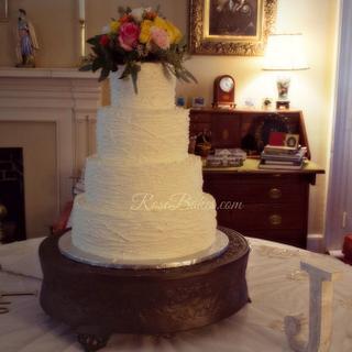 Rustic Buttercream Branches Wedding Cake