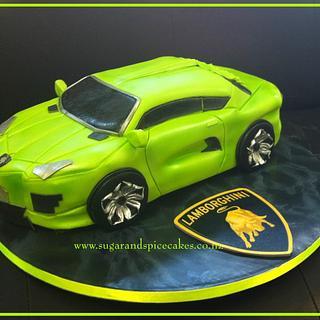 Lamborghini Car Cake