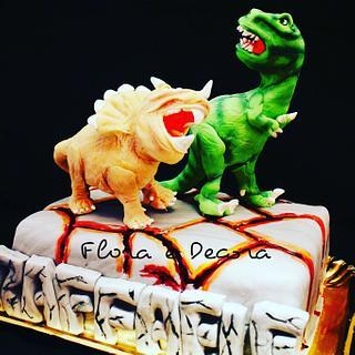 Dinosaurs cake - Cake by Flora e Decora