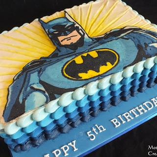 All buttercream Super Hero Cake - Cake by Mother and Me Creative Cakes