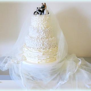 Motorbike Wedding cake