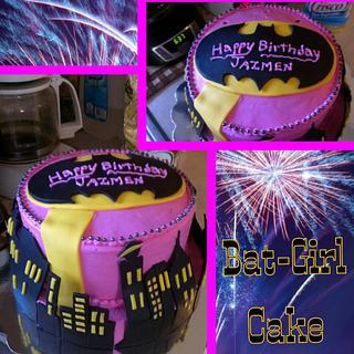 Pink BatGirl Cake - Cake by Bronecia (custom cakes)