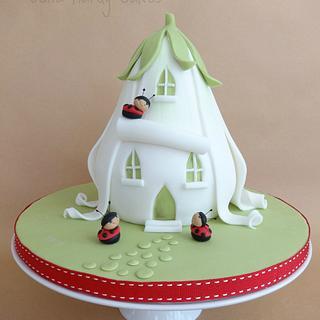 Ladybird House Cake