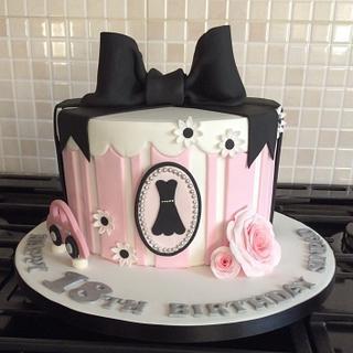 Simple Elegance 18th Birthday Cake