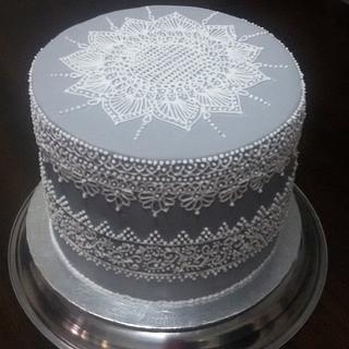 Grey N White - Cake by Sato Seran