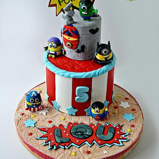Superhero Minions Cake