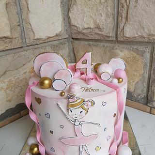 Balerina fondant cake