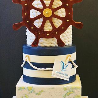 Nautical cake - Cake by WhenEffieDecidedToBake