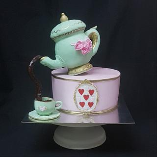 Tea party for mom's 50th birthday