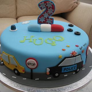 Car birthday cake - Cake by Deborah Cubbon (the4manxies)