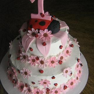 lady bug cake - Cake by CC's Creative Cakes and more...