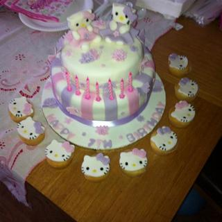 First two tiered cake :-) Hello Kitty