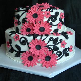 Nacho Momma's Wedding Cake - Cake by Donna Tokazowski- Cake Hatteras, Hatteras N.C.