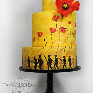 """""""Lest we Forget"""" ANZAC day 100 yrs on cake collaboration"""