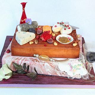 Cheese board cake