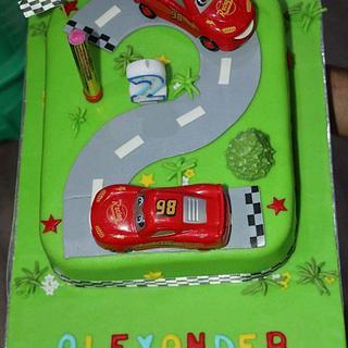 A race car cake - Cake by Iva Halacheva
